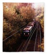 Train Fleece Blanket