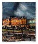 Train - Let's Go For A Spin Fleece Blanket