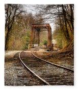 Train Memories Fleece Blanket