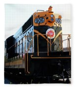 Train Museum - End Of The Line - Canadian National Railway Fleece Blanket