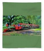 Train - New Orleans City Park Fleece Blanket
