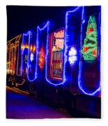 Train Of Lights Fleece Blanket