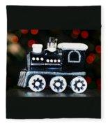 Train Ornament Fleece Blanket
