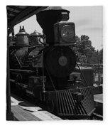 Train Ride Magic Kingdom Black And White Fleece Blanket