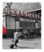 Train Station Alexanderplatz Fleece Blanket