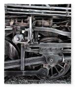 Train - The Wheels Are Turning  Fleece Blanket