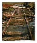 Train Track To Hell Fleece Blanket