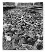 Train Tracks Fleece Blanket