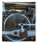 Train Wheels Fleece Blanket