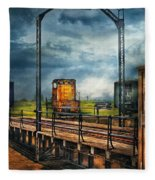 Train - Yard - On The Turntable Fleece Blanket