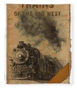 Trains Of The Old West Fleece Blanket
