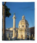 Trajans Column - Rome Fleece Blanket