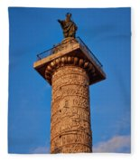 Trajans Column Fleece Blanket