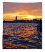 Tramonto Veneziano Fleece Blanket