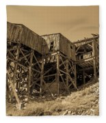 Tramway Headhouse Fleece Blanket