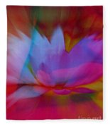 Trancendent Lotus Fleece Blanket