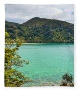 Tranquil Bay In Abel Tasman Np In New Zealand Fleece Blanket
