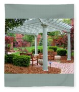 Tranquil Courtyard Fleece Blanket