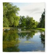 Tranquil - Digital Painting Effect Fleece Blanket