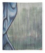 Tranquil Rain Fleece Blanket