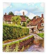 Tranquil Stream Lacock Fleece Blanket by Paul Gulliver