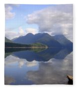 Tranquility Alouette Lake - Golden Ears Prov. Park, British Columbia Fleece Blanket