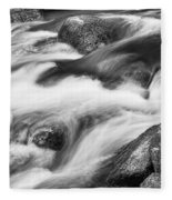 Tranquility In Black And White Fleece Blanket