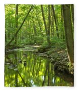 Tranquility In The Forest Fleece Blanket