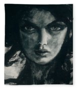 Portait Of Beatcee May Fleece Blanket