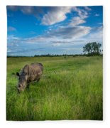 Tranquility On The Plains Fleece Blanket