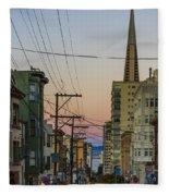 Transamerican Urbanism Fleece Blanket
