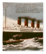 Transatlantic Liner, 1912 Fleece Blanket