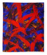 Transitions With Blue And Red  Fleece Blanket