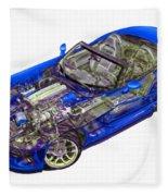Transparent Car Concept Made In 3d Graphics 1 Fleece Blanket