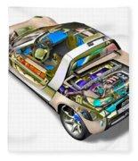 Transparent Car Concept Made In 3d Graphics 2 Fleece Blanket
