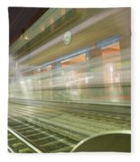Transparent Trains Fleece Blanket