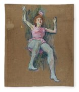 Trapeze Artist At The Medrano Circus Fleece Blanket