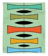 Trapezoids 2 Fleece Blanket
