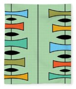 Trapezoids 3 Fleece Blanket