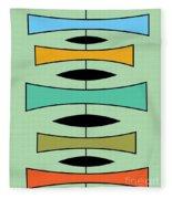 Trapezoids Fleece Blanket