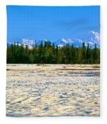 Trapper Creek And Mount Mckinley, Alaska Fleece Blanket