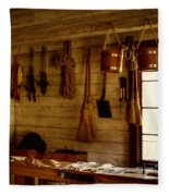 Trapper Supplies At The General Store Fleece Blanket