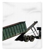 Trash Truck Fleece Blanket