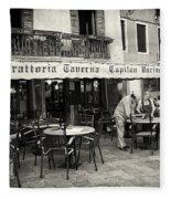 Trattoria In Venice  Fleece Blanket