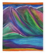 Travelers Mountains By Jrr Fleece Blanket