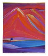 Travelers Pink Mountains Fleece Blanket