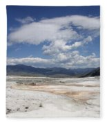 Travertine Hill Of Mammoth Hot Springs  Fleece Blanket