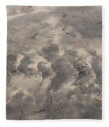 Tread On The Beach Fleece Blanket