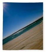 Treads In The Sand Fleece Blanket