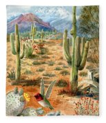 Treasures Of The Desert Fleece Blanket